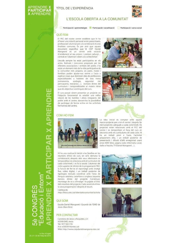 Escola oberta a la comunitat