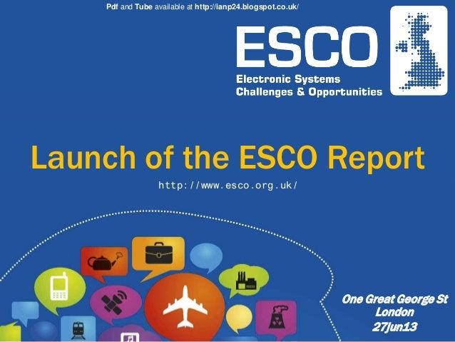 UK Electronic Systems - Economic Footprint