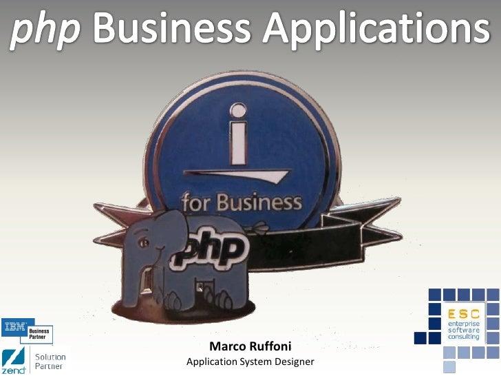 Marco RuffoniApplication System Designer