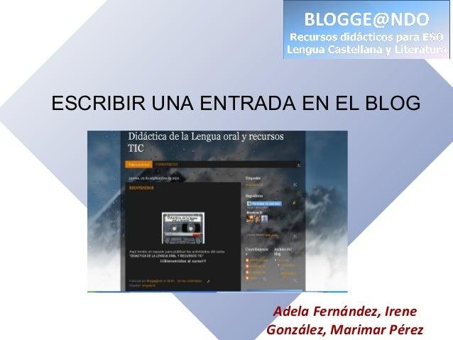 Escribir una entrada en un blog de Blogger
