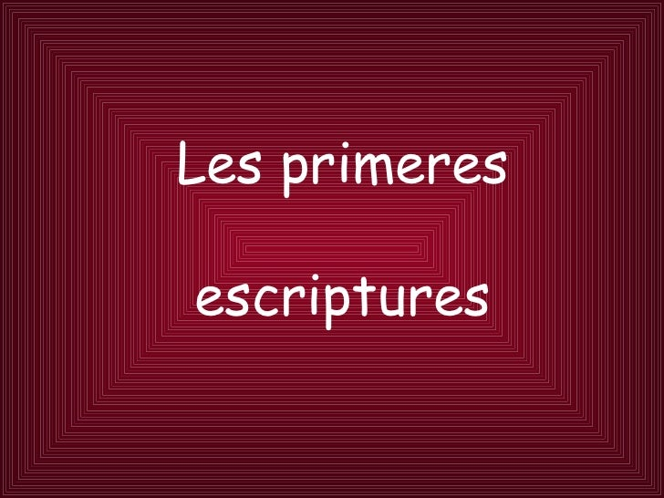 Les primeres escriptures