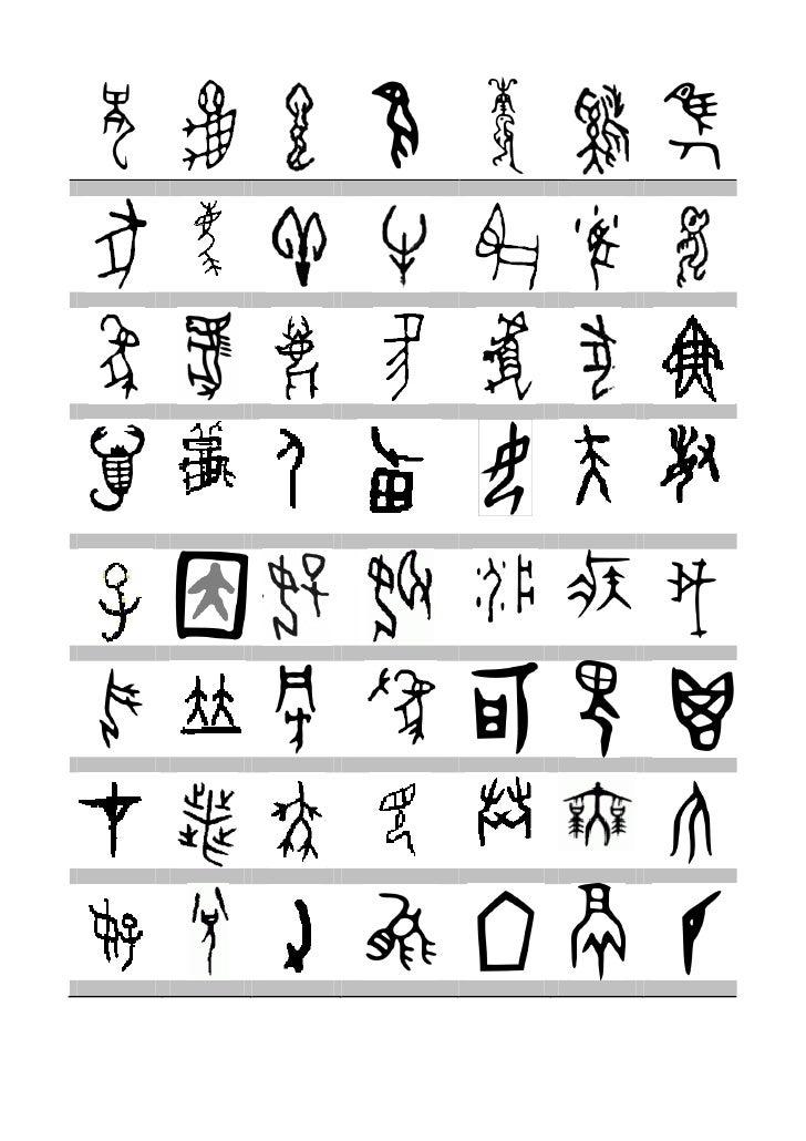 Escrita ossos de oráculo chinesa pictogramas