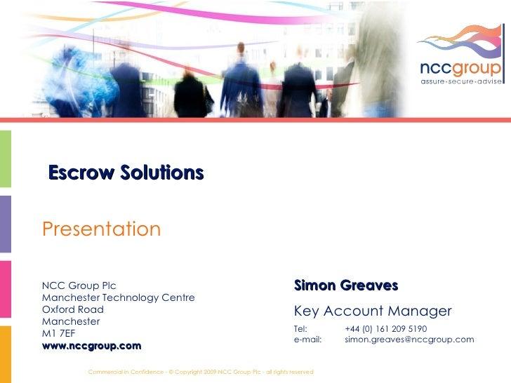 Escrow Presentation2010
