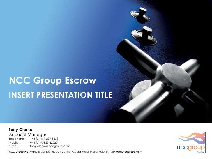 Escrow Presentation Final