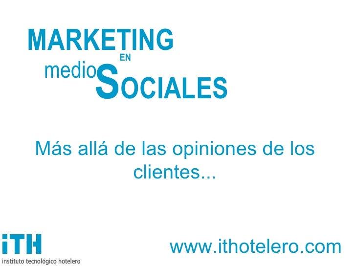 Marketing en Medios Sociales