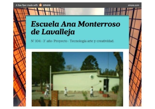 Escuela ana monterroso de lavalleja   smore 3° poster