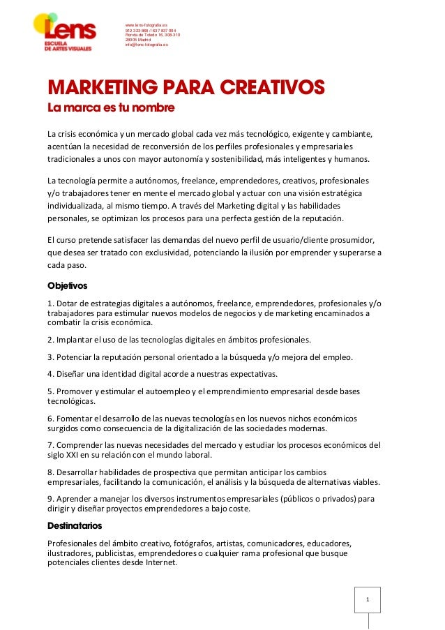 Seminario de marketing para creadores en LENS con Ángel Román