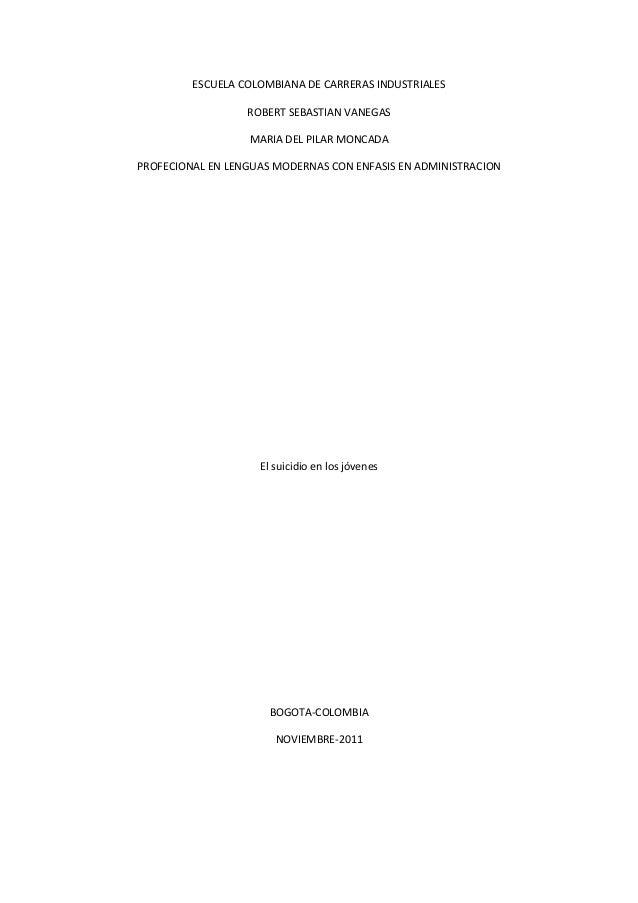 ESCUELA COLOMBIANA DE CARRERAS INDUSTRIALES ROBERT SEBASTIAN VANEGAS MARIA DEL PILAR MONCADA PROFECIONAL EN LENGUAS MODERN...