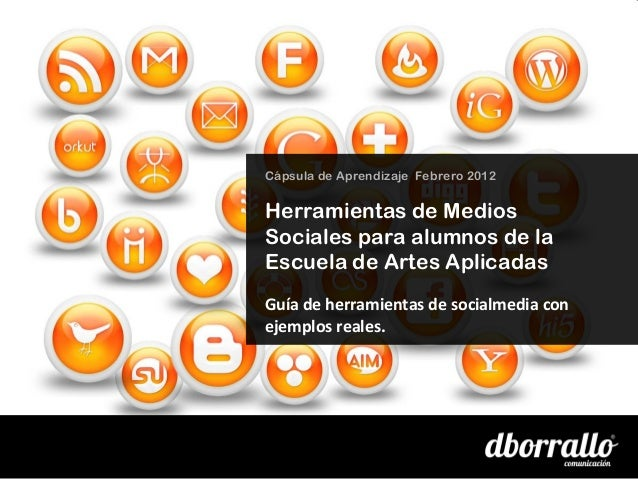Herramientas de socialmedia para alumnos de la Escuela de Artes Aplicadas de Sevilla