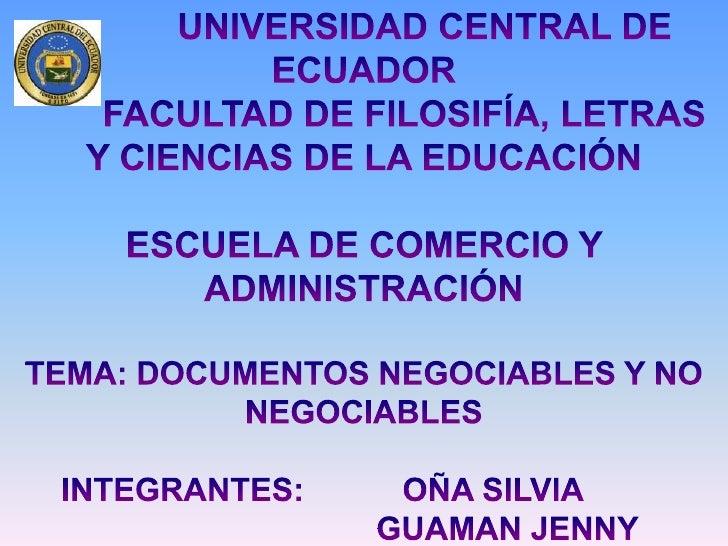 Documentos Mercantiles Escuela de Comercio y Administracion
