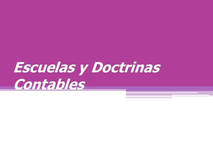 Escuelas y DoctrinasContables