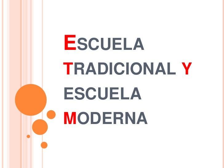 Escuela tradicional y escuela moderna for Oficina tradicional y moderna