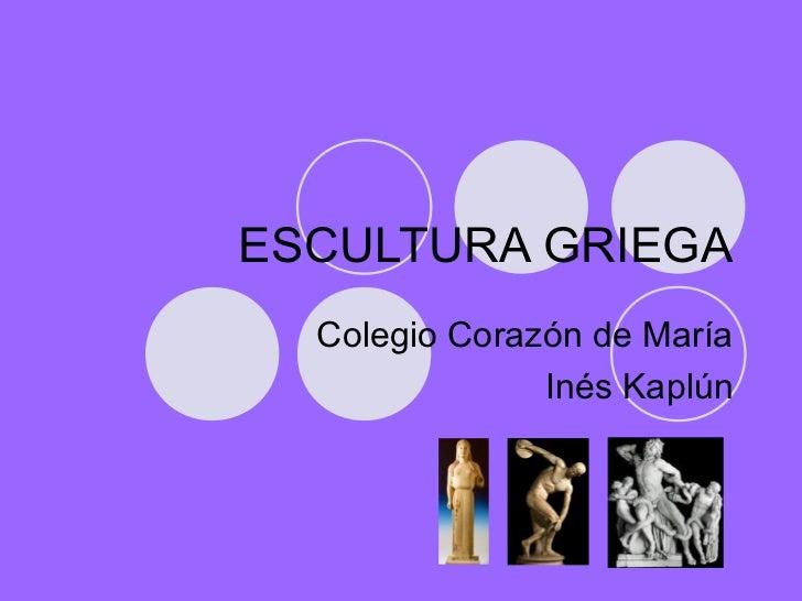 Escultura Griega Slideshare Escultura Griega Colegio