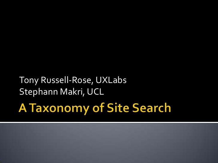 A Taxonomy of Site Search