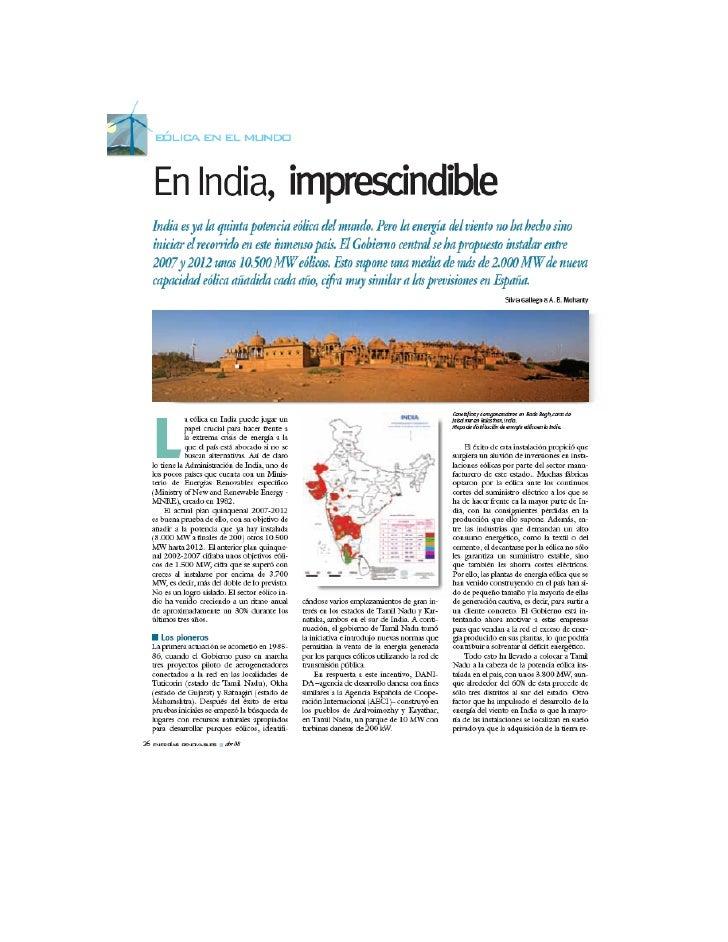Energia Eolica en India