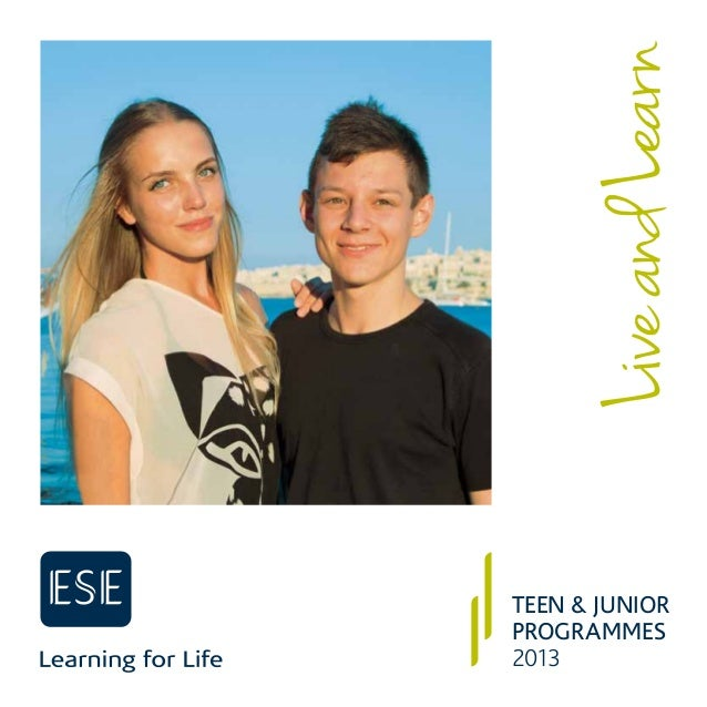 ESE Teen & Junior programmes -2013