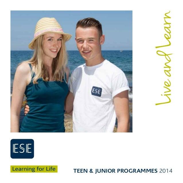 ESE Teen and Junior Brochure 2014