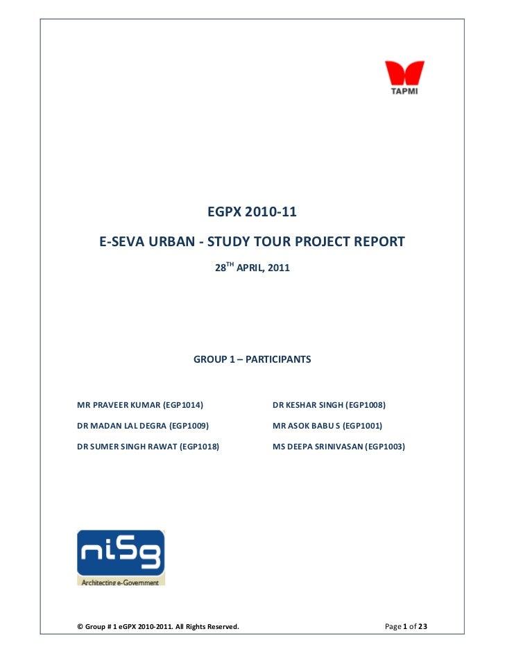 E seva urban- project report