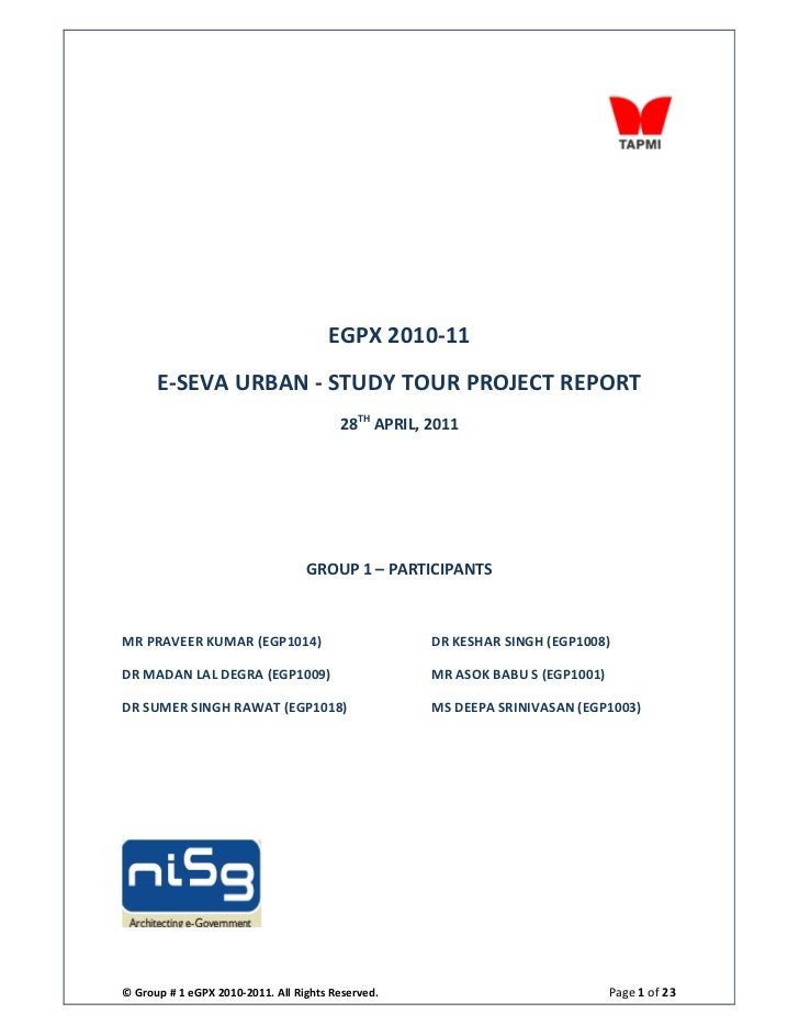 E seva urban- project report