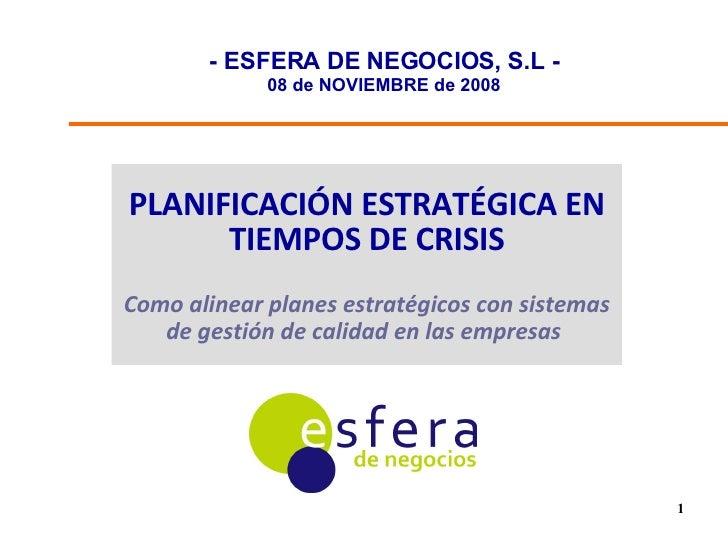 Esfera Planificacion En Tiempos De Crisis