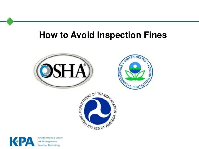 How to Avoid Inspection Fines