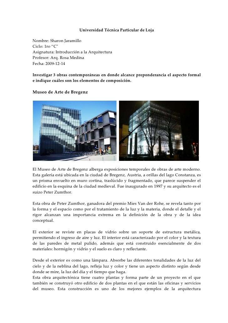 """Universidad Técnica Particular de Loja<br />Nombre: Sharon Jaramillo<br />Ciclo: 1ro """"C"""" <br />Asignatura: Introducción a ..."""