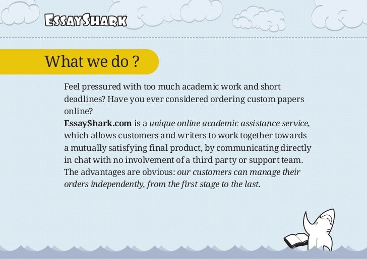 Shark essay writers dallas