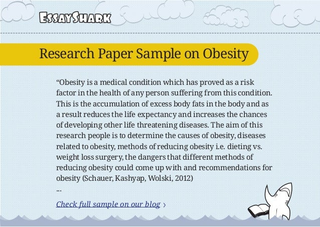 Ideas for research paper on obesity?