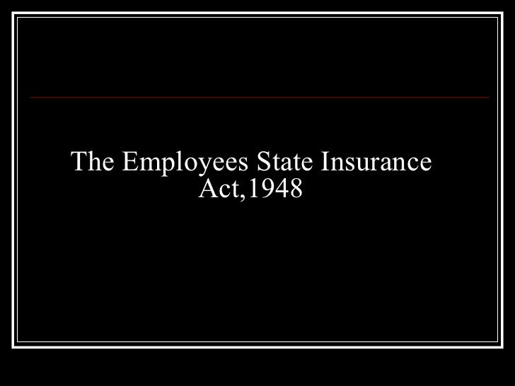esi act 1948 The ministry of labour and employment vide its notification dated 20 january, 2017 being gsr 62(e) notified further amendment to the employees' state insurance (central) rules, 1950.