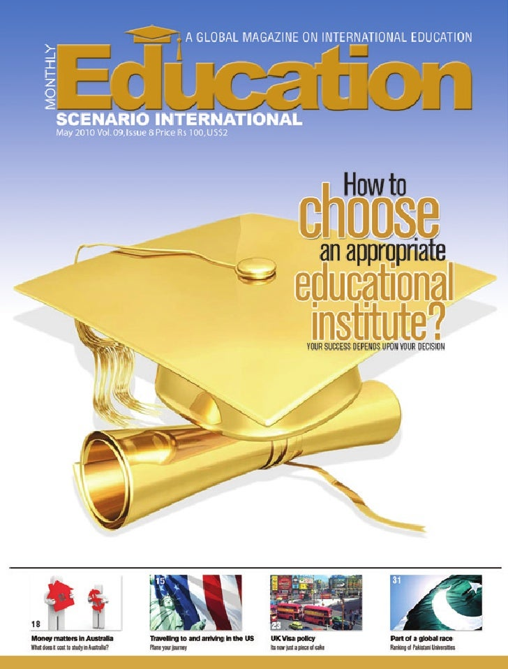 EDUCATION SCENARIO MAY ISSUE