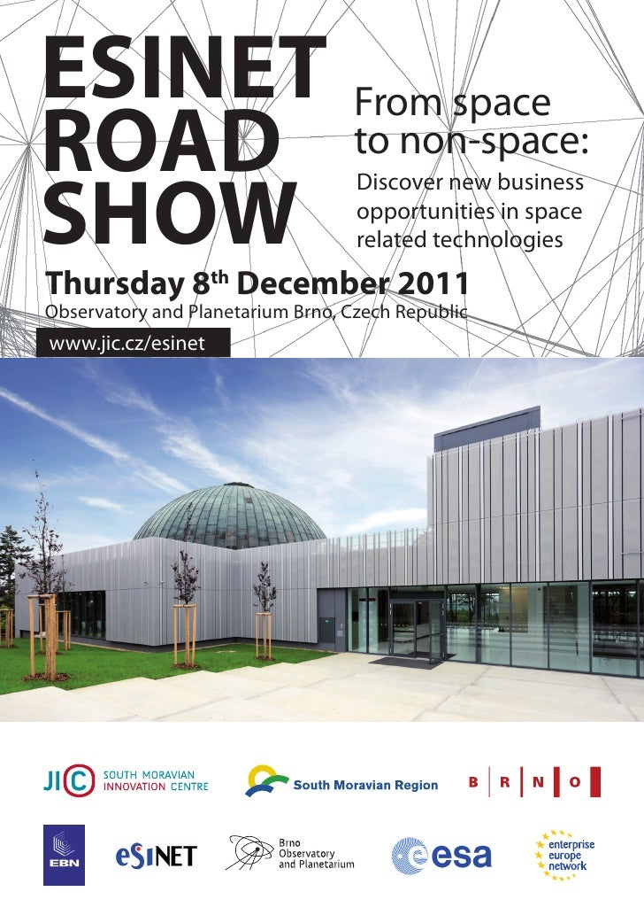 ESINET From spaceROAD to non-space:SHOW                                   Discover new business                           ...