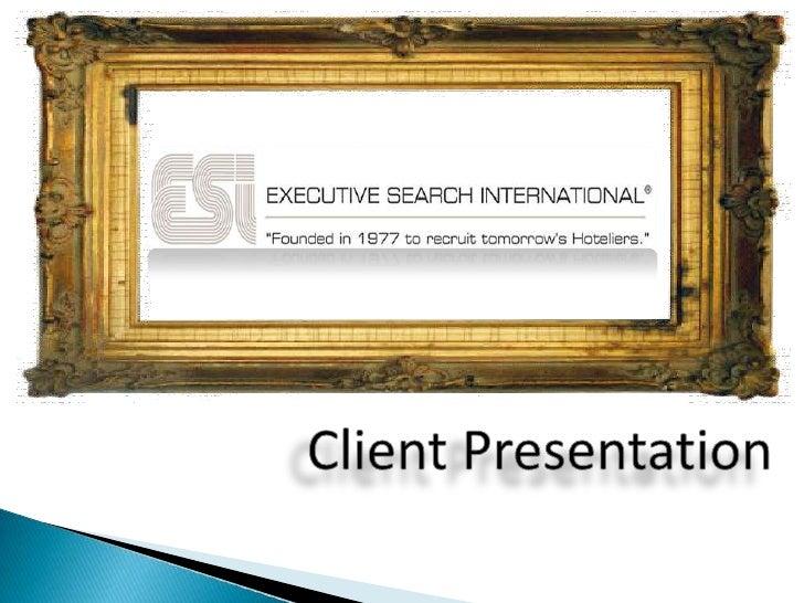 Executive Search International Presentation Slideshow