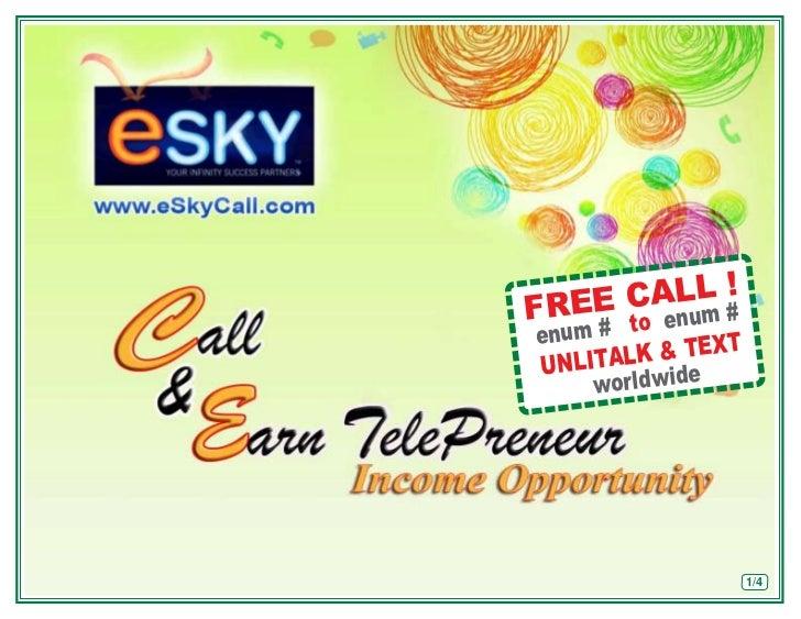 eskycall.com income opportunity presentation