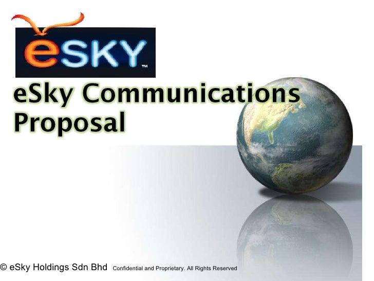 © eSky Holdings Sdn Bhd  Confidential and Proprietary. All Rights Reserved