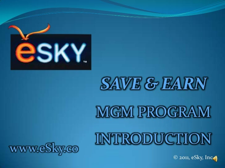 ESKY MGM marketing plan with voice over ver.2.1