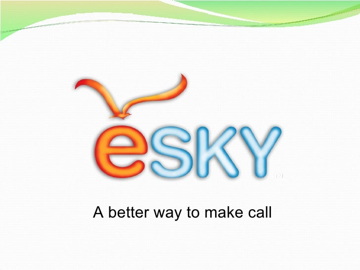 eSky Voiz mobile internet phone card business presentation