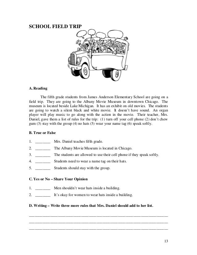 Printable Short Stories For 5th Graders With Questions - short ...