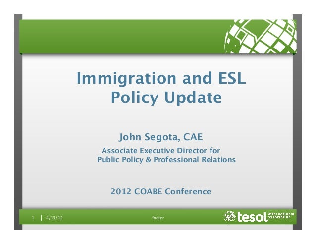 footer 1  4/13/12 Immigration and ESL
