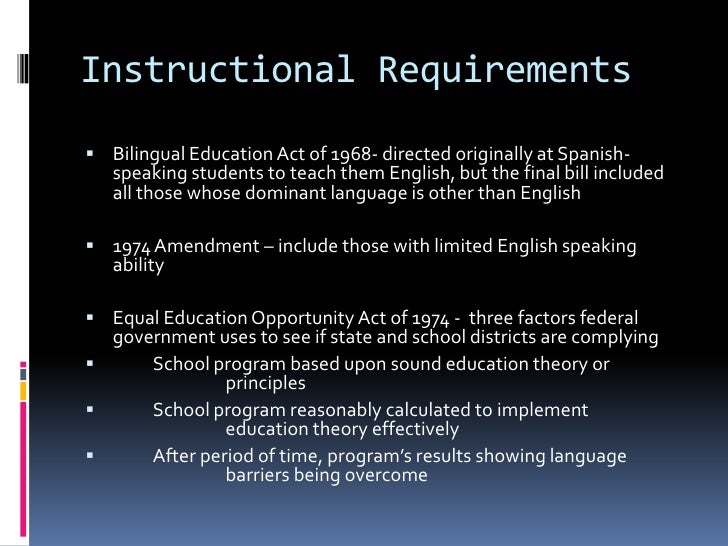 bilingual education act essay Papers, speeches, and articles by james crawford and sharon adelman reyes teaching those who can selected essays (2008) seven hypotheses on language loss: the bilingual education act, 1968-2002.