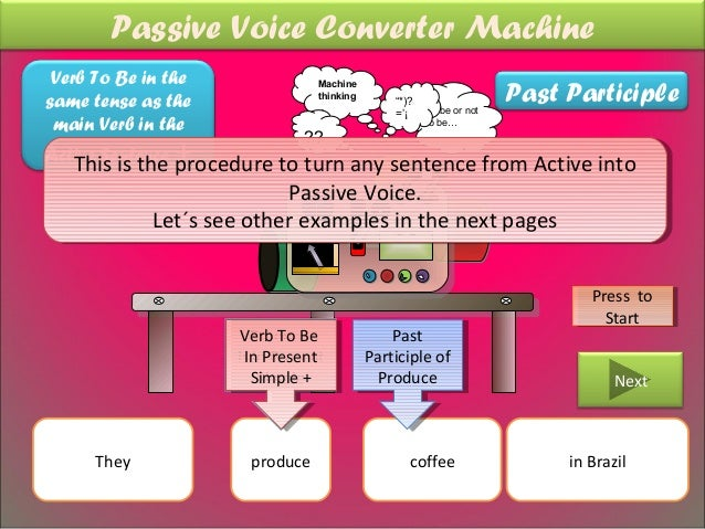 Passive Voice Converter Machine Verb To Be in the                                                                      Pas...