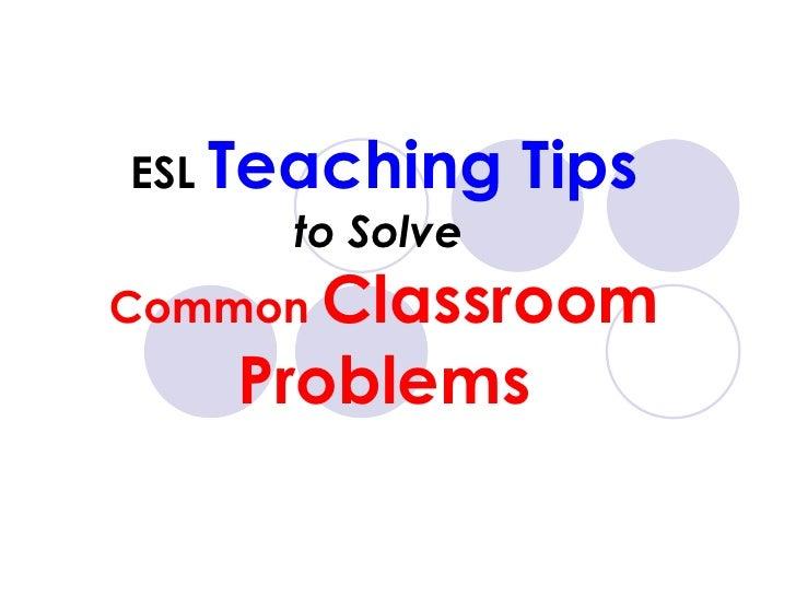 Esl Teaching Tips