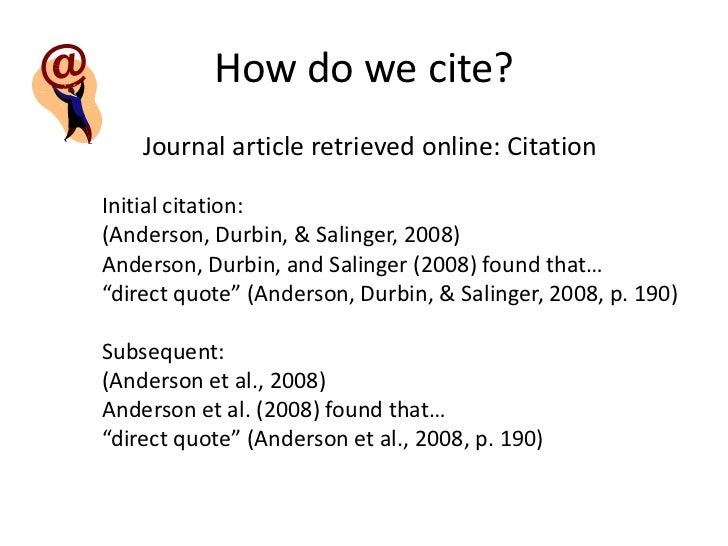 How To Cite In An Essay Apa