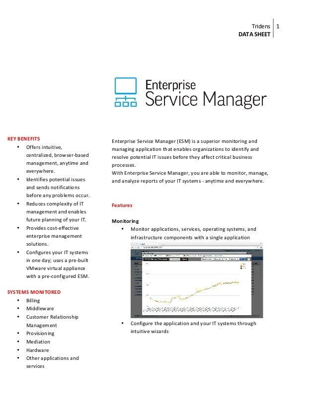 Enterprise Service Manager (ESM) : data sheet1
