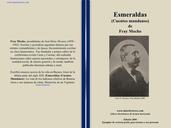 1 1 1 1 1 1 1 1 1 1 1 1 1 1 1 1 1 1 1 1 1 1 1 1 Fray Mocho , pseudónimo de José Sixto Álvarez (1858~ 1903). Escritor y per...
