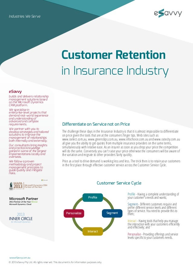 customer retention strategy in insurance sector Focus to retain customers  your dealership: strategies for  member  companies of zurich in north america, including zurich american insurance  company.