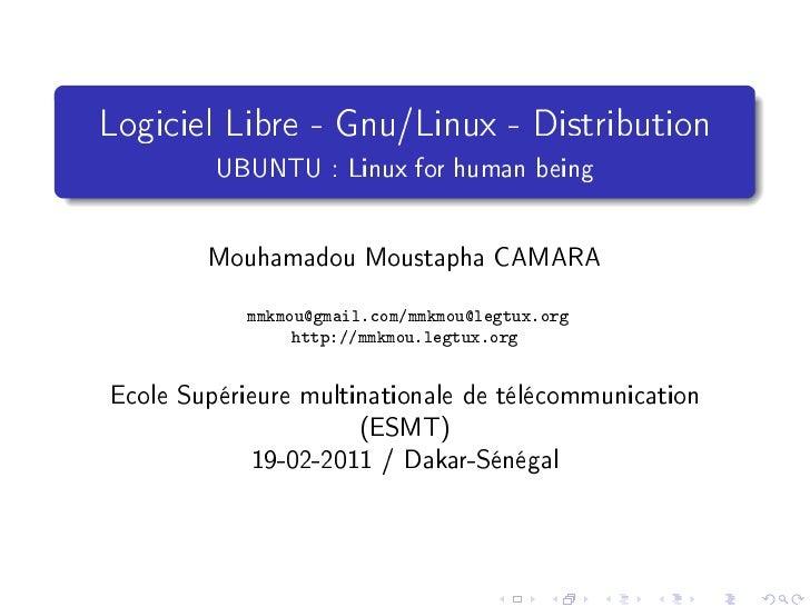 Gnu/Linux et Logiciel Libre