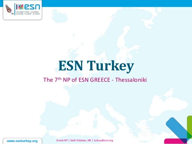Esn turkey sunumu greek np12