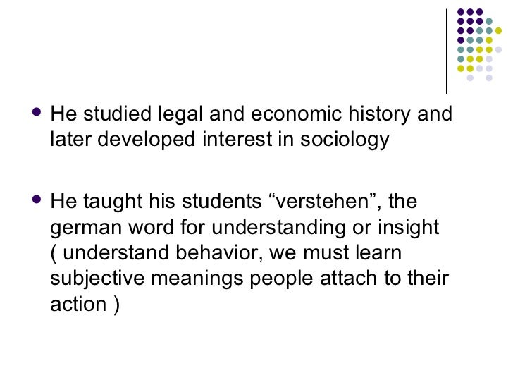 From max weber essays in sociology sparknotes