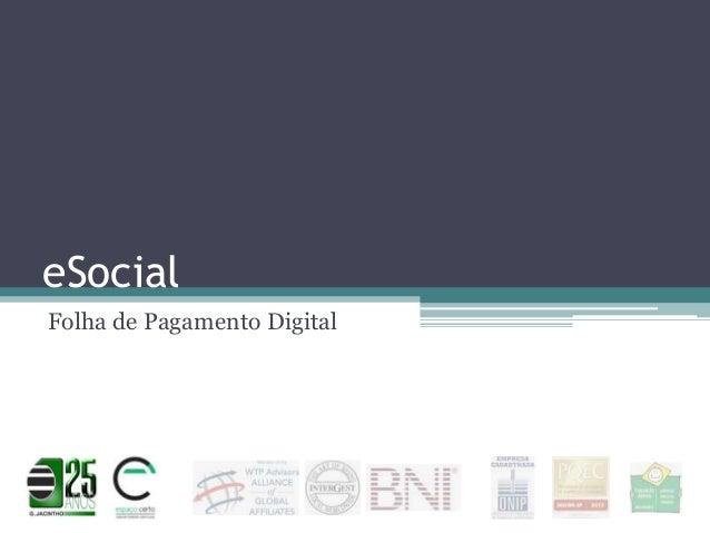 eSocial Folha de Pagamento Digital
