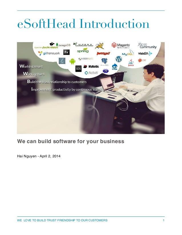 eSoftHead Service Introduction
